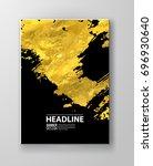 vector black and gold design... | Shutterstock .eps vector #696930640