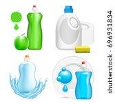 vector set of realistic... | Shutterstock .eps vector #696931834