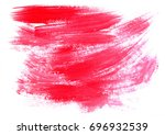 red brush stroke isolated on... | Shutterstock . vector #696932539