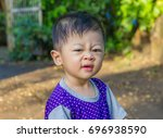 portrait of a cute child ... | Shutterstock . vector #696938590