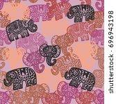 beautiful seamless pattern...   Shutterstock .eps vector #696943198