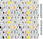 geometric elements memphis... | Shutterstock .eps vector #696943540