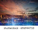kuala lumpur city skyline  ... | Shutterstock . vector #696944710