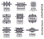 tribal aztec vector pattern.... | Shutterstock .eps vector #696948928