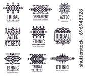 Tribal aztec vector pattern. Indian graphics for tattoo designs. Indian aztec tattoo tribal illustration | Shutterstock vector #696948928