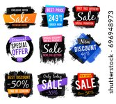 discount and price tag  sale...   Shutterstock .eps vector #696948973