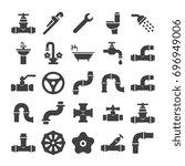 sanitary engeneering  valve ... | Shutterstock .eps vector #696949006