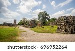 ruins of panama viejo | Shutterstock . vector #696952264