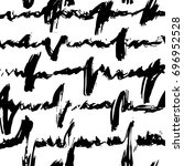 hand drawn monochrome black and ... | Shutterstock .eps vector #696952528