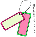 colorful tags with empty space... | Shutterstock .eps vector #696952804