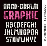 sanserif font in the style of... | Shutterstock .eps vector #696953020