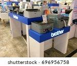 many types of brother inkjet... | Shutterstock . vector #696956758