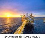 sunrise sunset view offshore... | Shutterstock . vector #696970378