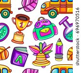 back to school colorful ... | Shutterstock .eps vector #696970516