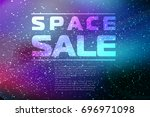 space sale background  starry... | Shutterstock .eps vector #696971098