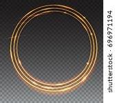 sparkling golden glow rings ... | Shutterstock . vector #696971194