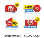 colorful shopping sale banner... | Shutterstock .eps vector #696974230