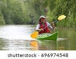 danube river  ukraine   may 08  ... | Shutterstock . vector #696974548