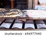 unagi grill japanese food  eel... | Shutterstock . vector #696977440