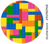 childhood blocks pattern vector....   Shutterstock .eps vector #696980968