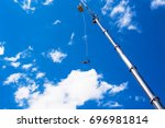 bungee jumping. jump from the... | Shutterstock . vector #696981814