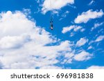 bungee jumping. jump from the... | Shutterstock . vector #696981838