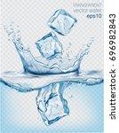 transparent vector water splash ...   Shutterstock .eps vector #696982843