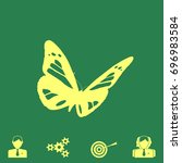 butterfly vector icon   Shutterstock .eps vector #696983584