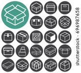 box icons. vector illustration.  | Shutterstock .eps vector #696987658