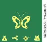 butterfly vector icon   Shutterstock .eps vector #696988894