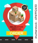 relocation services concept.... | Shutterstock .eps vector #696992650