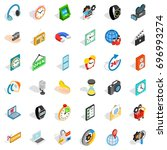 device icons set. isometric... | Shutterstock .eps vector #696993274