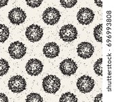 grungy vector pattern with... | Shutterstock .eps vector #696993808