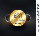 best quality premium golden... | Shutterstock .eps vector #696994348