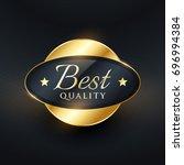 best quality luxury label badge ... | Shutterstock .eps vector #696994384