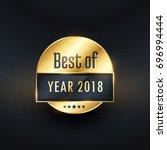 best of the year golden label... | Shutterstock .eps vector #696994444