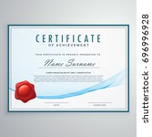 blue certificate design in... | Shutterstock .eps vector #696996928