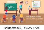 elementary school banner with... | Shutterstock .eps vector #696997726