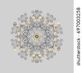 snowflake winter. symbol of... | Shutterstock .eps vector #697003258