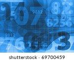 modern blue background - stock photo