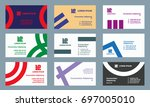 set of business cards templates.... | Shutterstock .eps vector #697005010