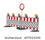 no thoroughfare construction... | Shutterstock . vector #697015240