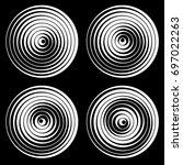 set of vector round elements... | Shutterstock .eps vector #697022263