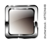 abstract grey rounded square... | Shutterstock .eps vector #697024648