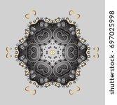 freehand artistic ethnic...   Shutterstock .eps vector #697025998