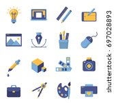 graphic design icons  vector... | Shutterstock .eps vector #697028893