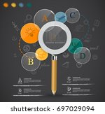 creative magnifying glass idea... | Shutterstock .eps vector #697029094