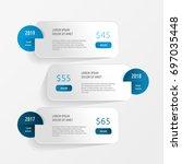 set of graphic elements.... | Shutterstock .eps vector #697035448