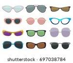 fashion illustration set....   Shutterstock .eps vector #697038784