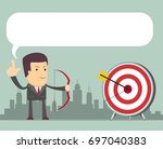 successful business story... | Shutterstock . vector #697040383
